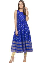 Load image into Gallery viewer, Butti Print Long Blue Kurta-2
