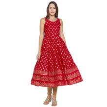 Load image into Gallery viewer, Ethnic Red Color Anarkali Printed Regular Kurtas-1