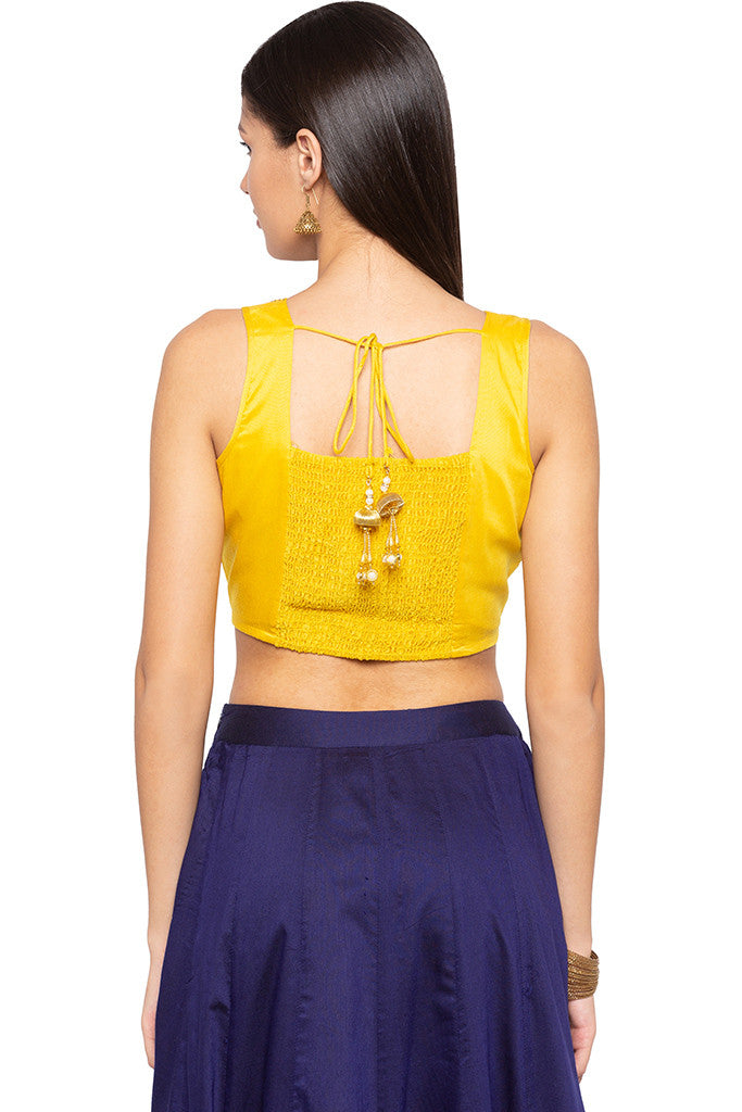 Embroidered Ethnic Crop Top-3