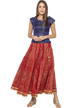 Load image into Gallery viewer, Printed Long Ethnic Maroon Skirt-2
