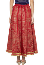 Load image into Gallery viewer, Printed Long Ethnic Maroon Skirt-3