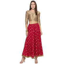 Load image into Gallery viewer, Maroon Printed Skirts-4