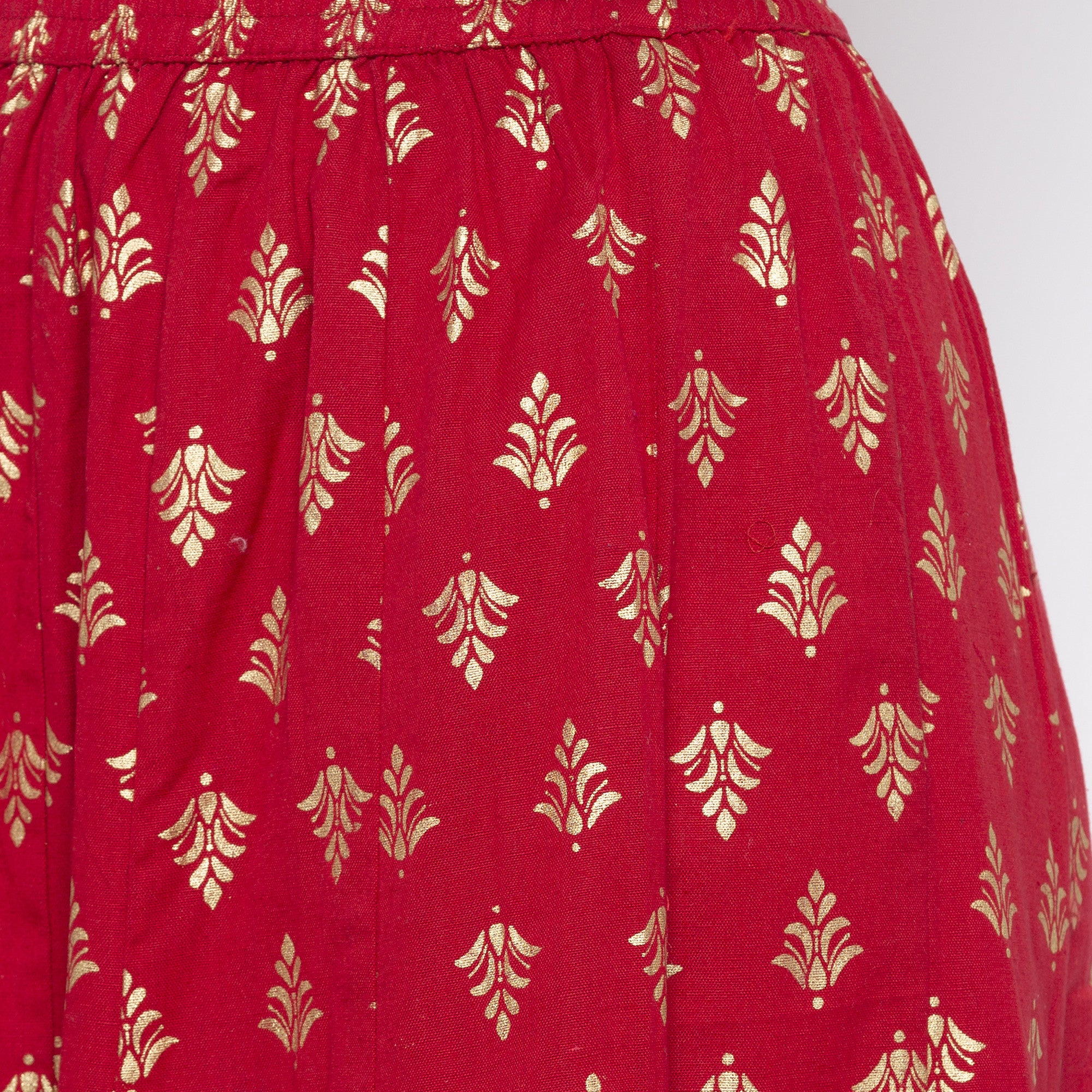 Maroon Printed Skirts-5
