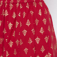 Load image into Gallery viewer, Maroon Printed Skirts-5