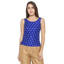 Load image into Gallery viewer, Ethnic Blue Color Printed Slim Fit Tunics-1