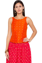 Load image into Gallery viewer, Printed Ethnic Orange Top-1