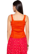 Load image into Gallery viewer, Printed Ethnic Orange Top-3