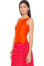 Load image into Gallery viewer, Printed Ethnic Orange Top-4