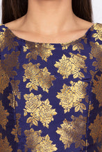 Load image into Gallery viewer, Brocade Royal Blue Ethnic Top-5