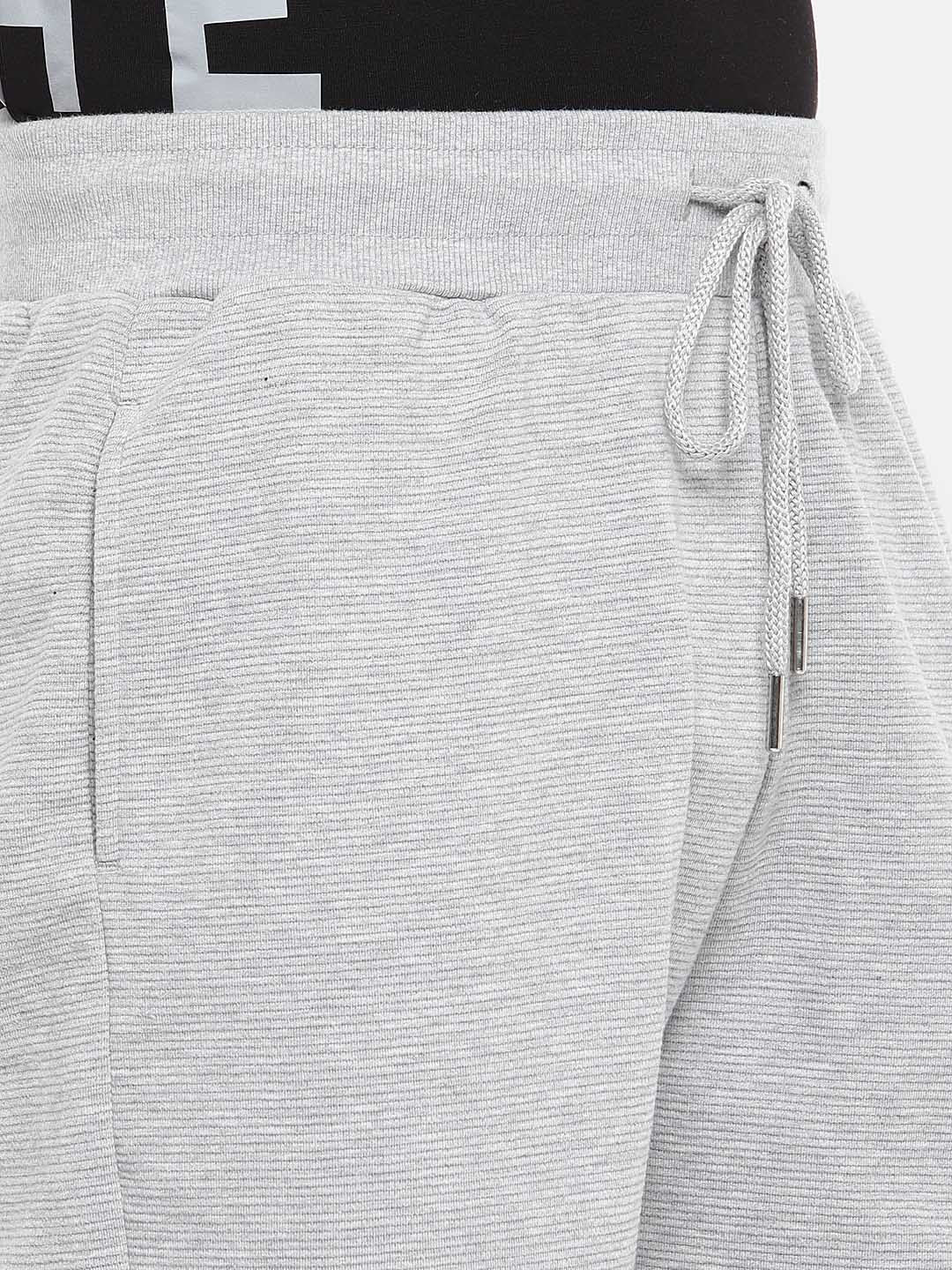 Grey Solid Regular Fit Regular Shorts-5