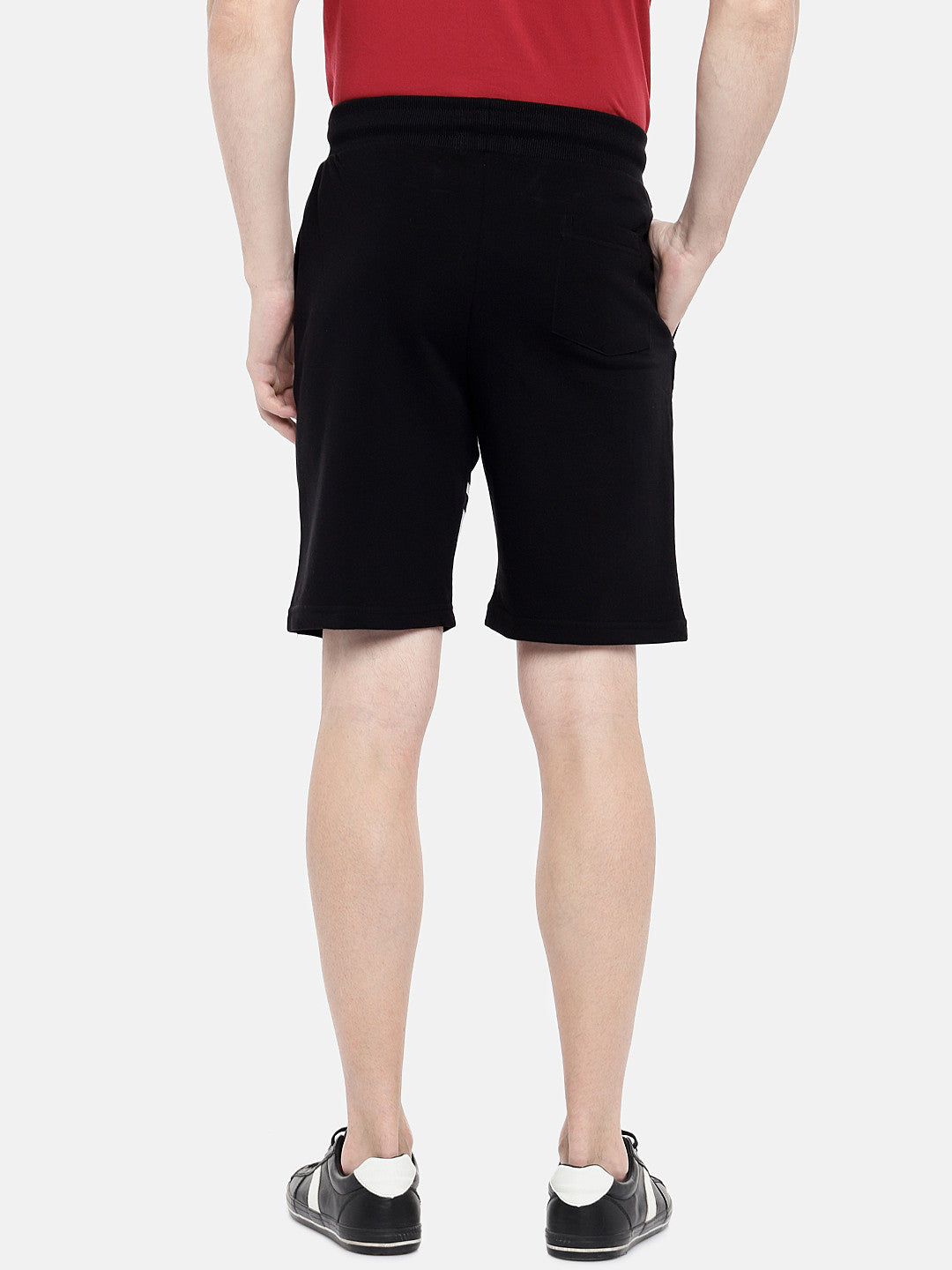 Black Solid Regular Fit Regular Shorts-3