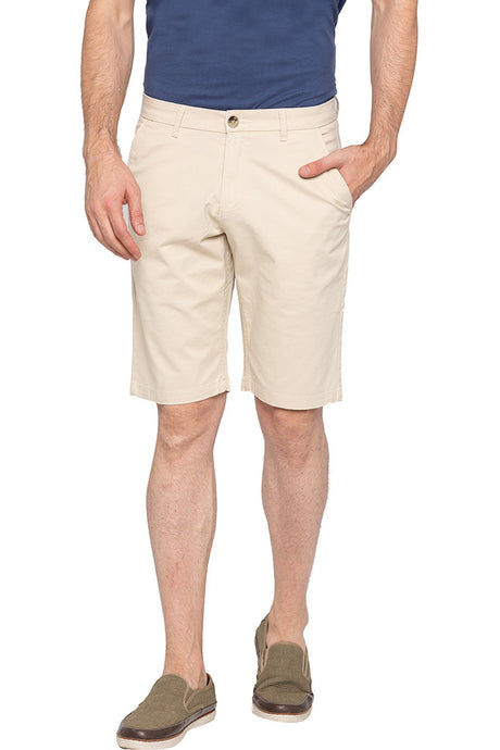 Flat-front Mid-ise Shorts-1