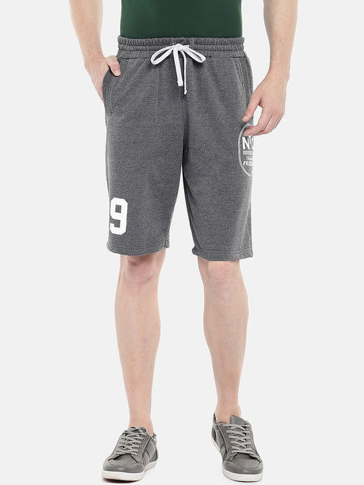 Black Solid Regular Fit Regular Shorts-1
