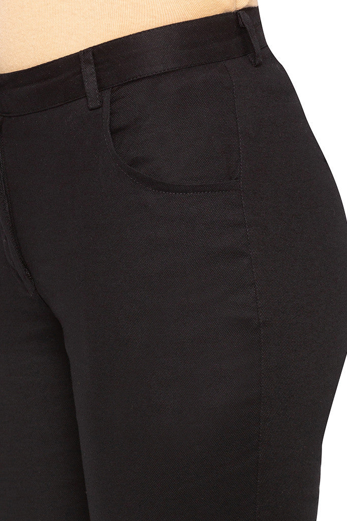 Solid Skinny Fit Trousers-5