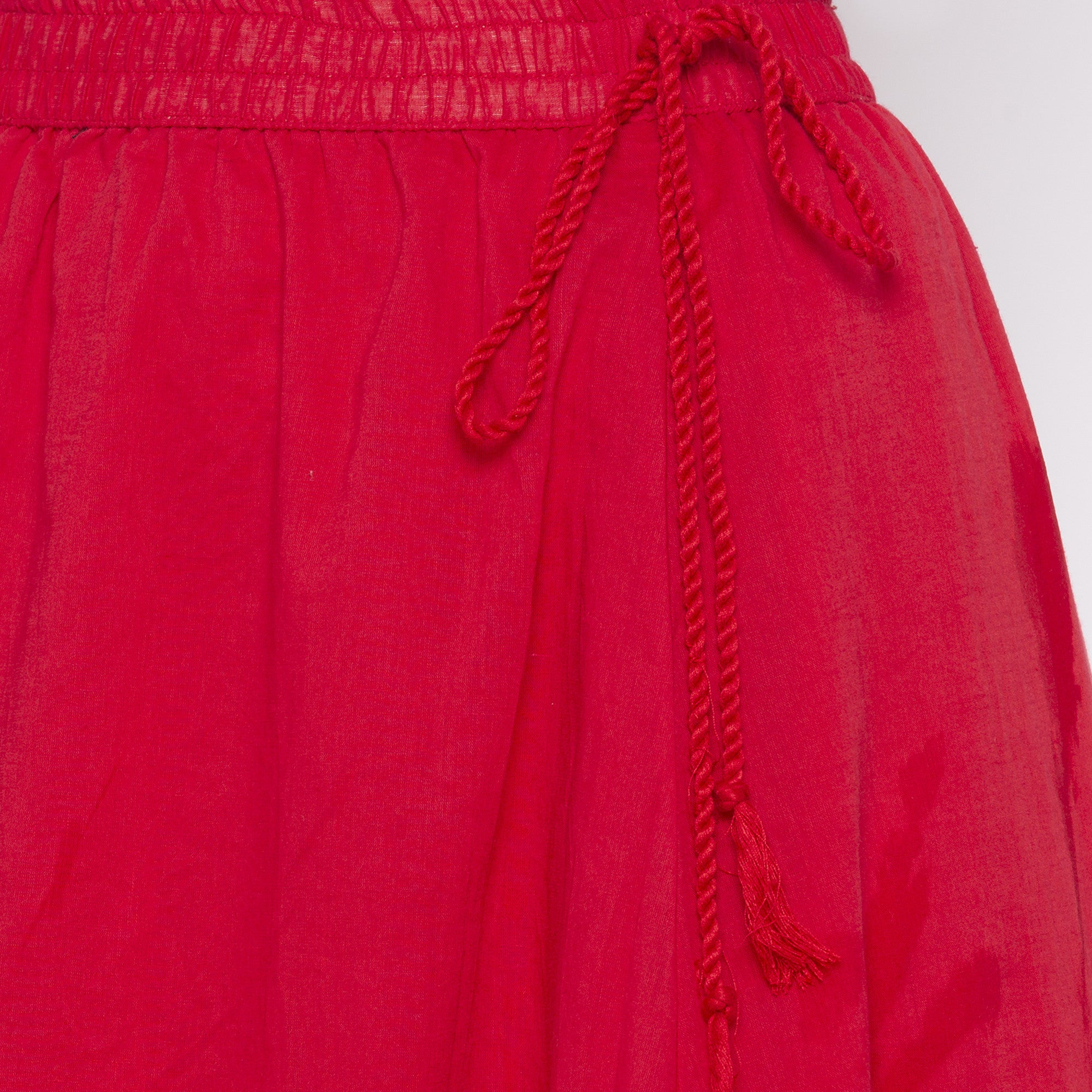 Red Solid Skirts-5