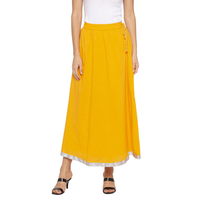 Yellow Solid Skirts-1