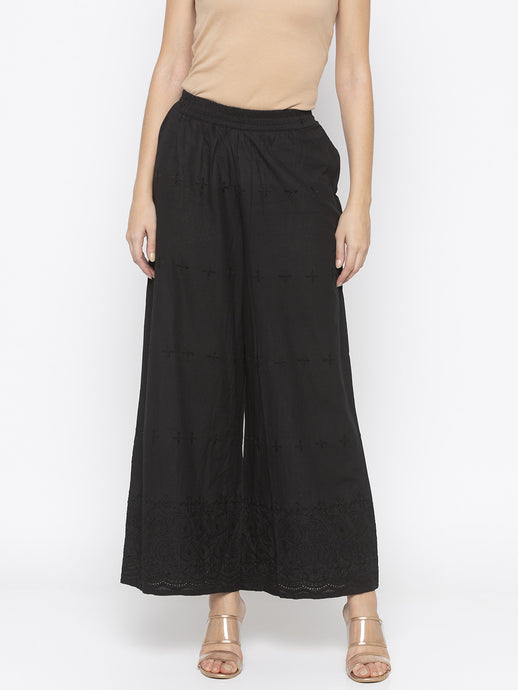 Solid Black Culottes-1