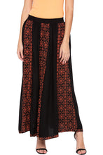 Load image into Gallery viewer, Printed Panelled Black Ethnic Skirt-1