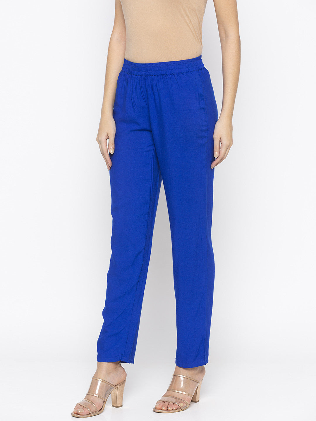 Solid Blue Trousers-2