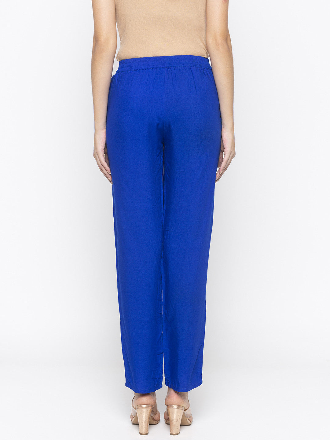 Solid Blue Trousers-3