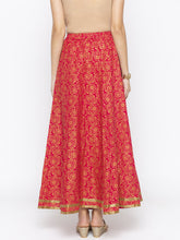 Load image into Gallery viewer, Pink Printed Flared Maxi Skirts-3