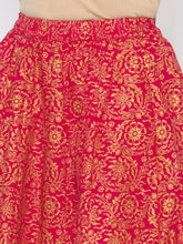 Load image into Gallery viewer, Pink Printed Flared Maxi Skirts-5