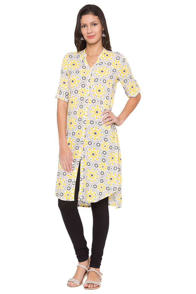 Printed High-low Kurta-1