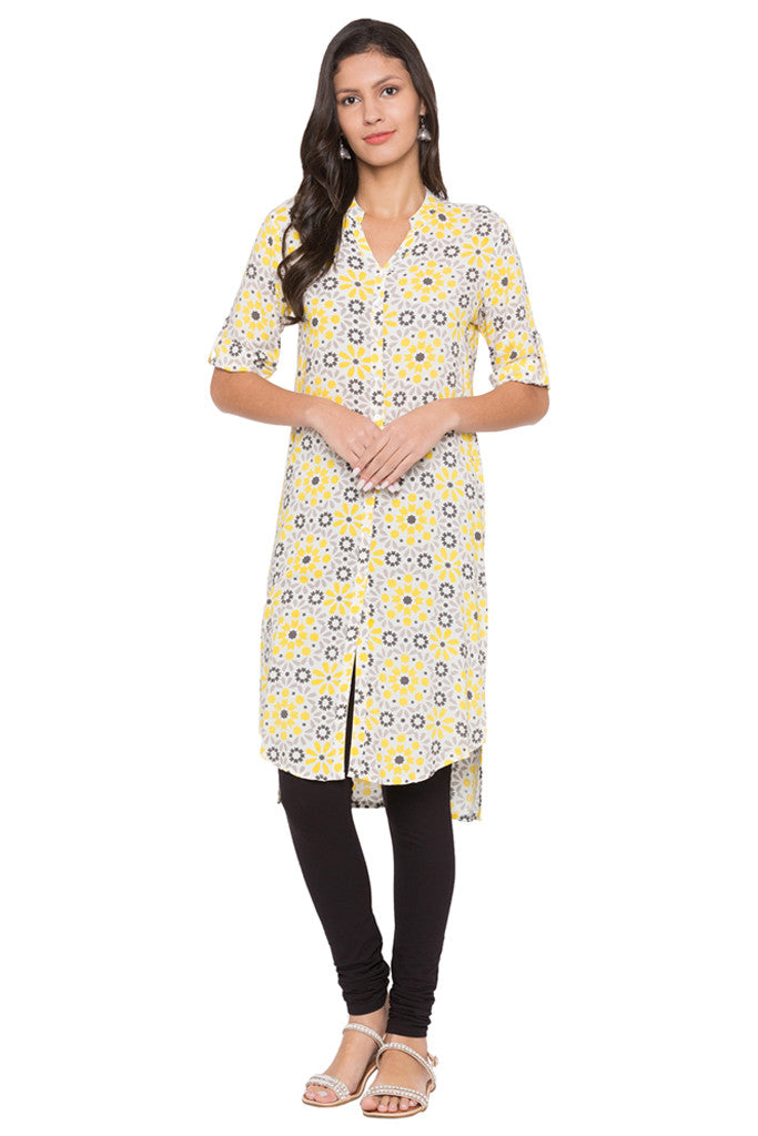 Printed High-low Kurta-2
