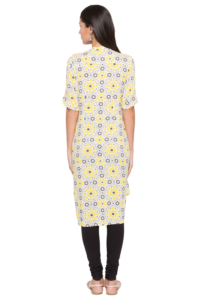 Printed High-low Kurta-3