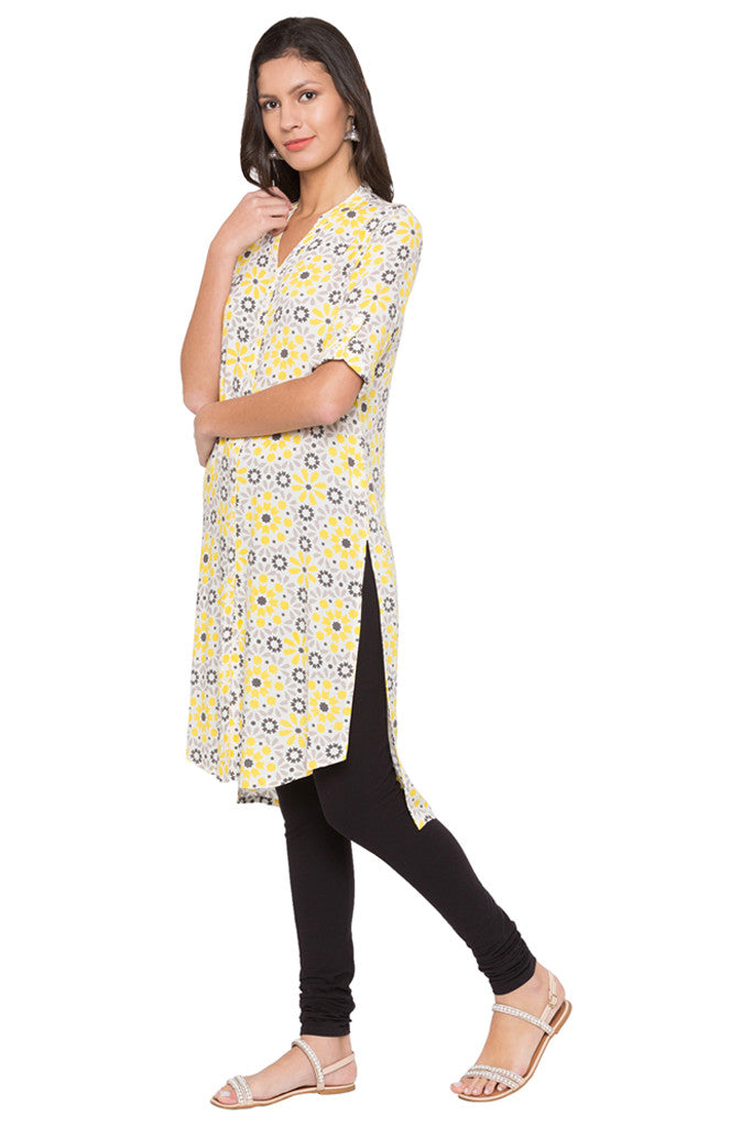Printed High-low Kurta-4