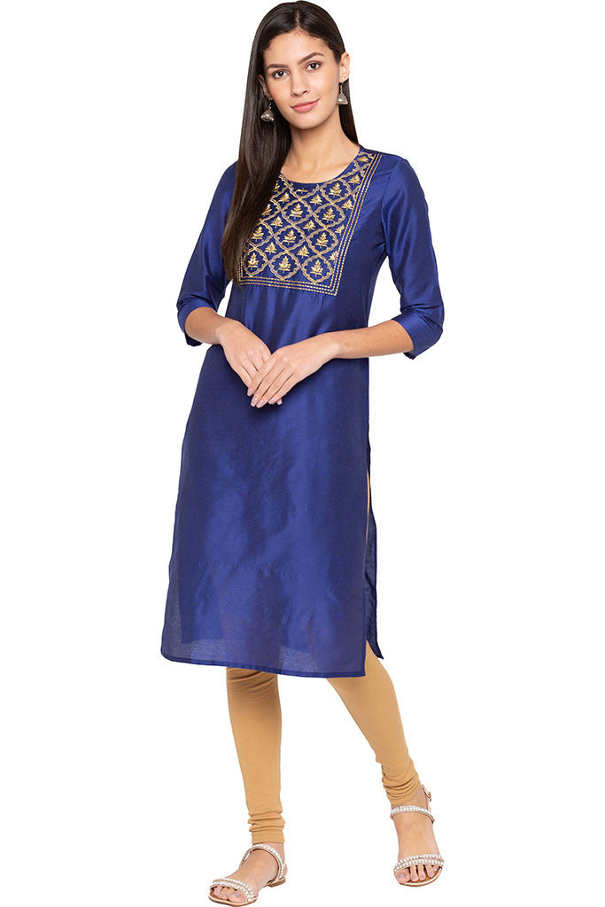 Embroidered Front Yoke Kurta-2