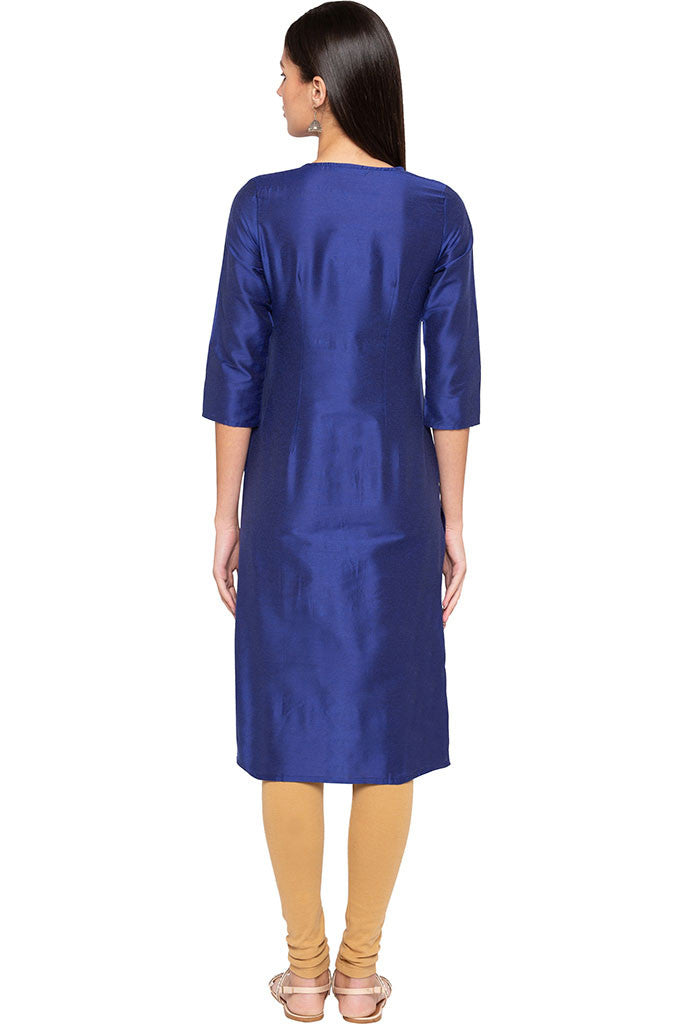 Embroidered Front Yoke Kurta-3