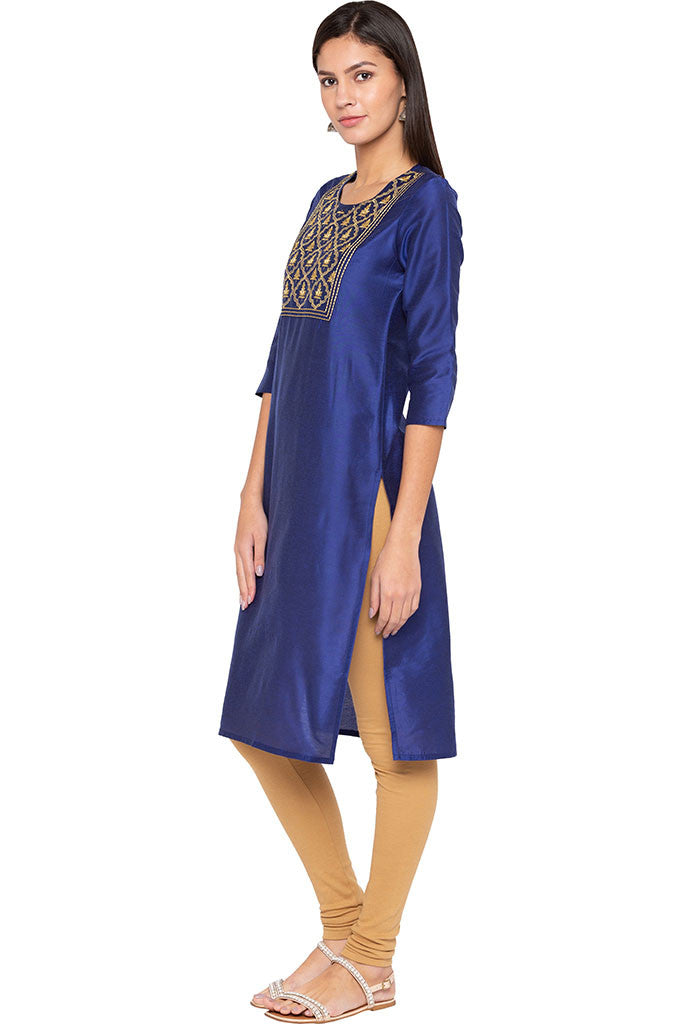 Embroidered Front Yoke Kurta-4