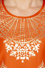 Load image into Gallery viewer, Printed Ethnic Orange Kurta-5