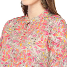 Load image into Gallery viewer, Women Pink Printed Straight Kurta-5