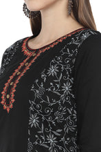 Load image into Gallery viewer, Black Printed Straight Kurta-5