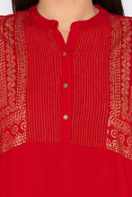 Load image into Gallery viewer, Rogan Print Red Kurta-5