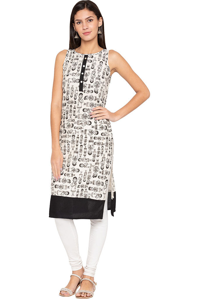 Indian Woman Print Kurta-1