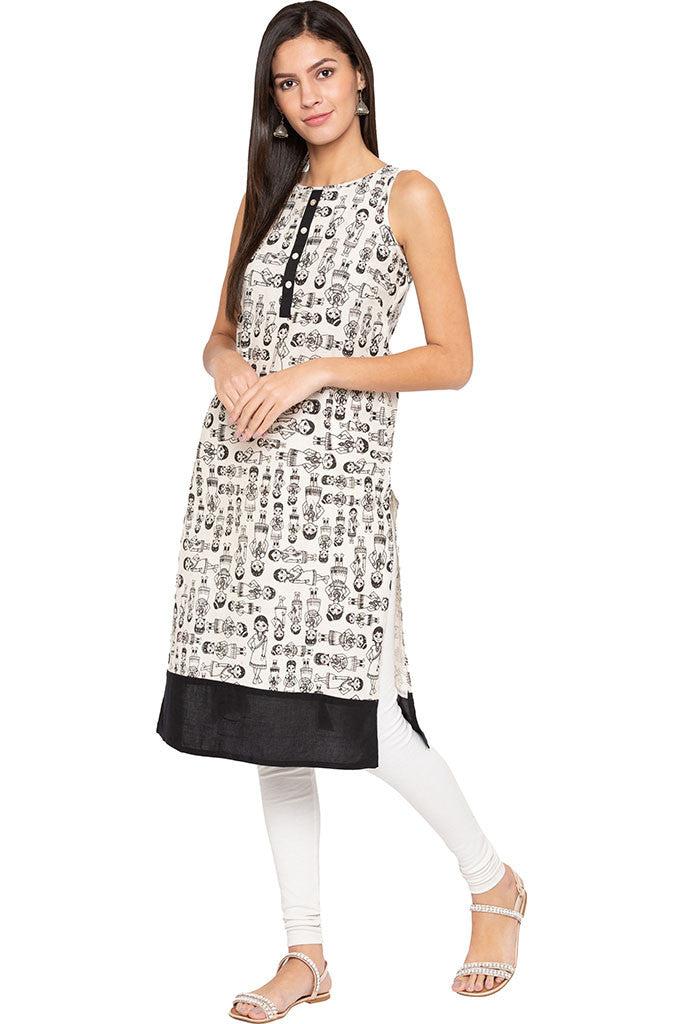 Indian Woman Print Kurta-2