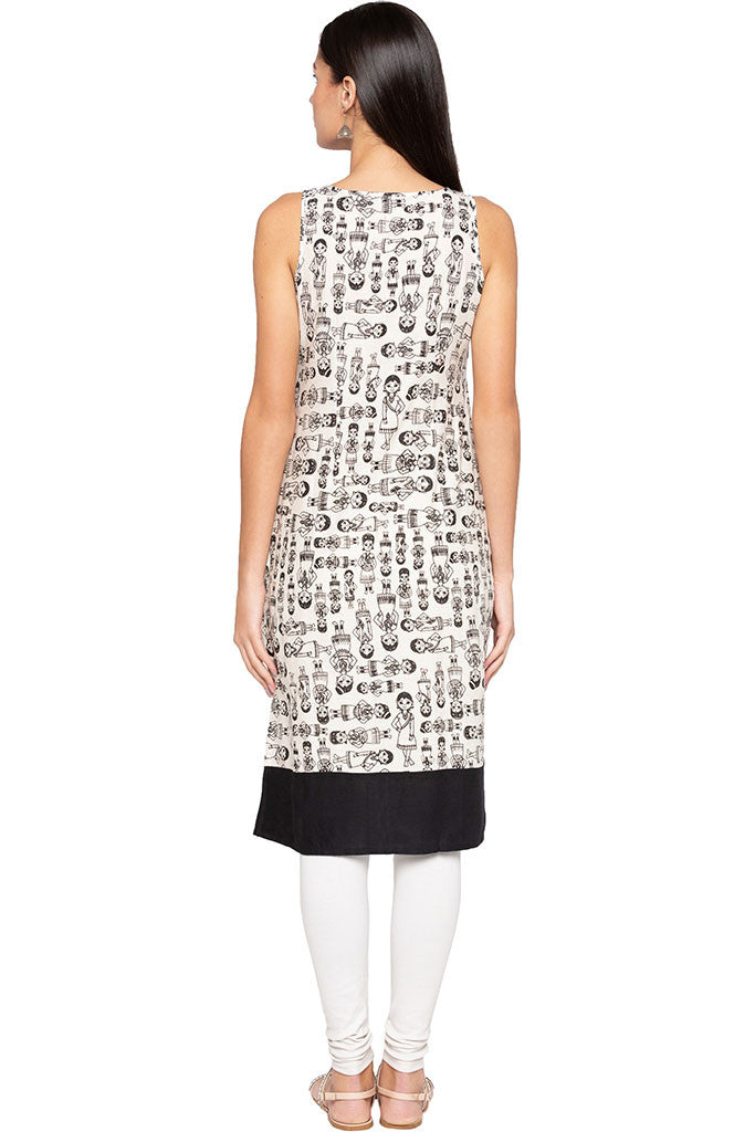 Indian Woman Print Kurta-3