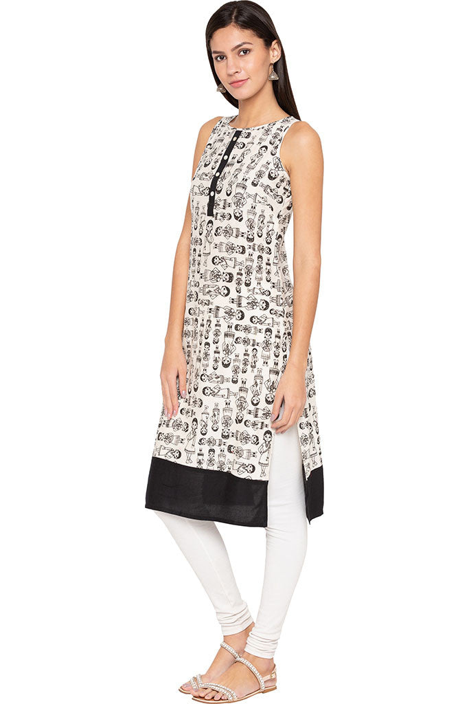 Indian Woman Print Kurta-4