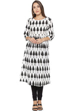 Load image into Gallery viewer, Printed Designer White Kurta-1
