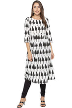 Load image into Gallery viewer, Printed Designer White Kurta-2