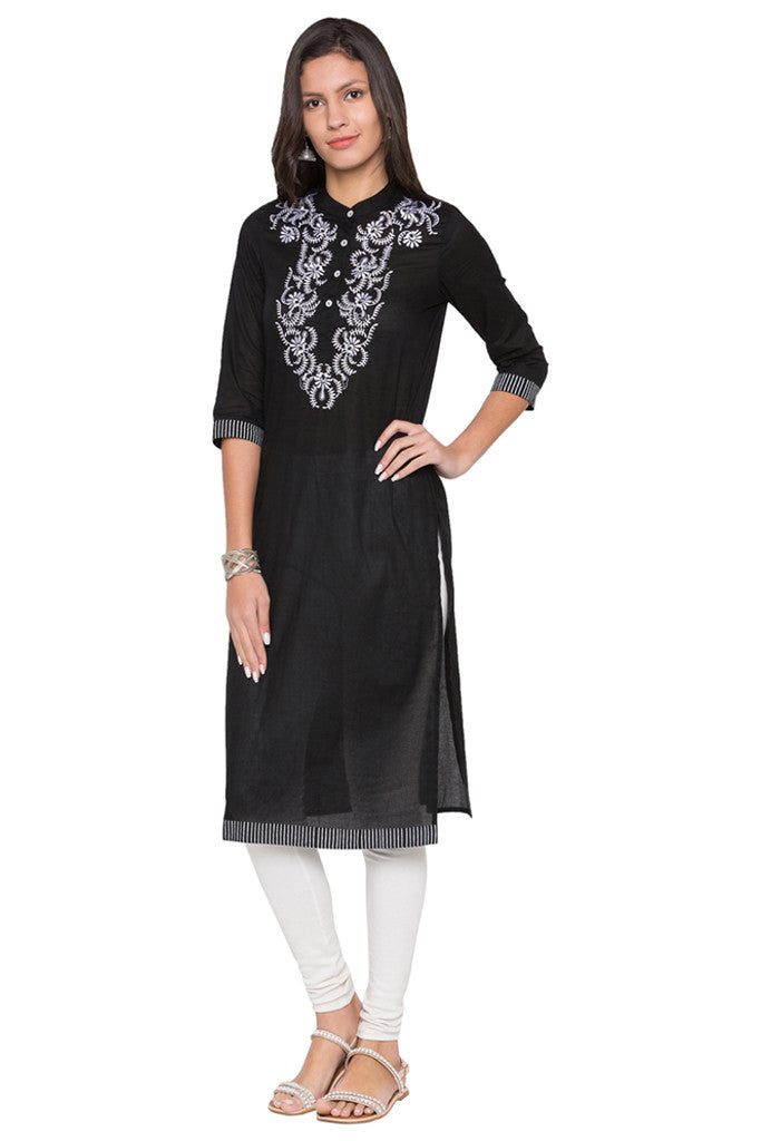 Embroidered Bodice Kurta-1