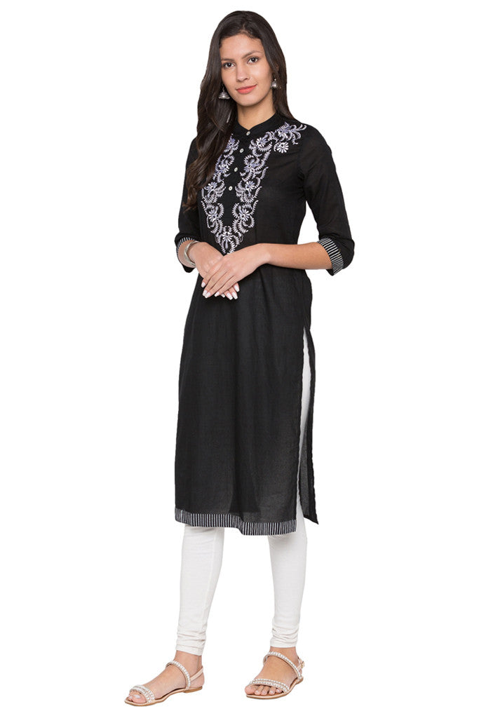 Embroidered Bodice Kurta-2