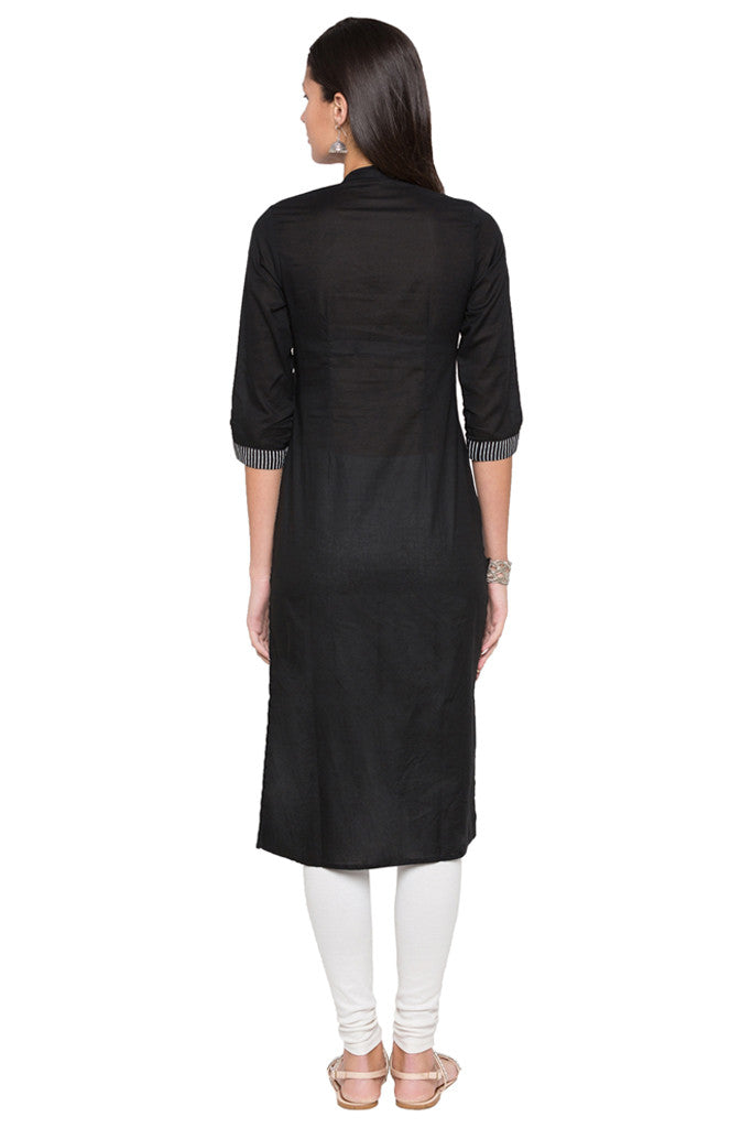 Embroidered Bodice Kurta-3