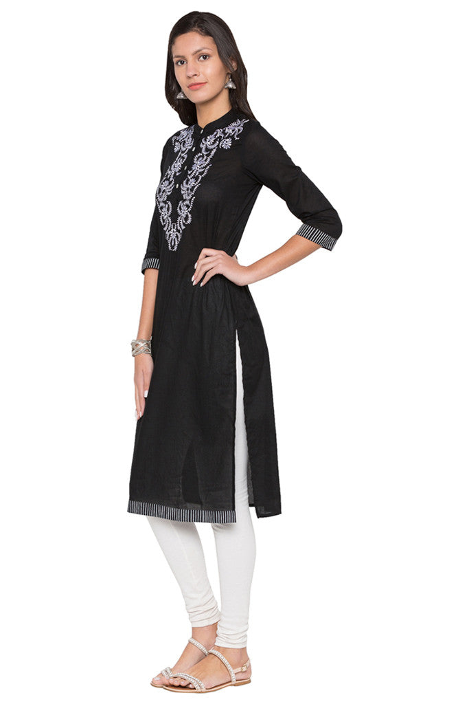 Embroidered Bodice Kurta-4