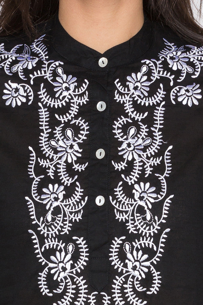 Embroidered Bodice Kurta-5