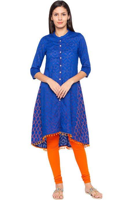 High-low Printed Kurta-1