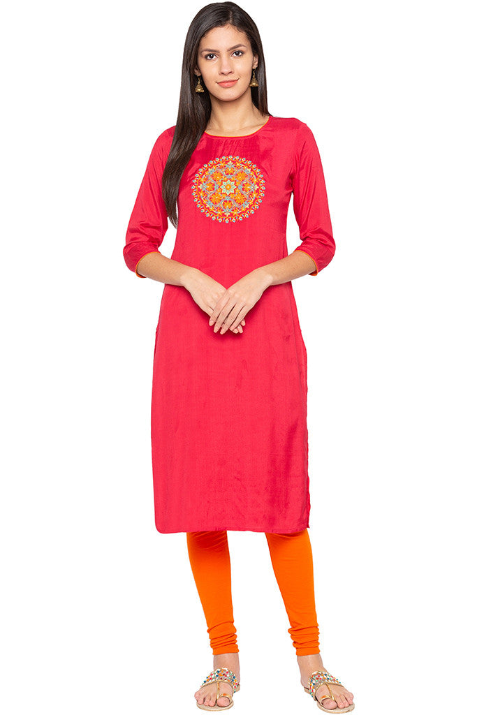 Embroidered Ethnic Kurta-2